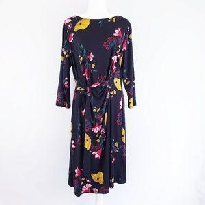 Ann Taylor Factory Black Floral Dress NWT Size XL